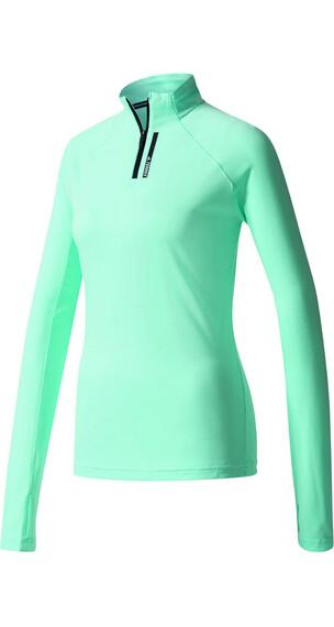 adidas TERREX Tracerocker 1/2 Zip T-Shirts Women clear aqua